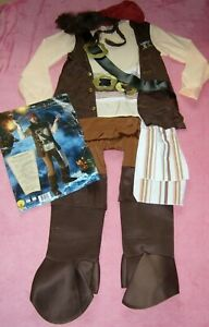 MENS SIZE 38-42 CHEST JACK SPARROW COSTUME NEVER WORN RUBIES COSTUMES