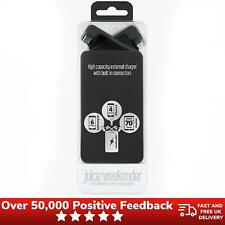 Juice Weekender 8400mAh Portable Power Pack Black USB Battery Charger Mobile