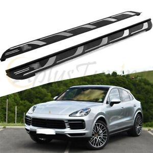 New Side Steps Fit For 2019 2020 Porsche Cayenne Running Board Nerf bar Platform
