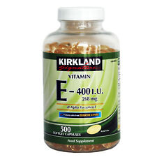 Kirkland Signature Vitamin E 268mg 400 I.u. Food Supplement 500 Softgel Capsules
