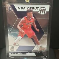 2019-2020 Panini Mosiac Zion Williamson NBA Debut Rookie RC Pelicans