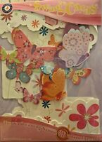 Butterflies & Flowers Santoro London Greeting Card 3D Interactive Swing Card