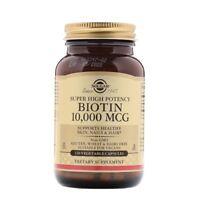 Solgar Biotin Super High Potency 10000 mcg 120 Vegetable Capsules