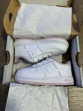 Nike White and Pink AF1 8C