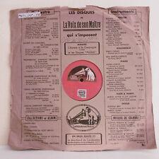 78T Michele FLETA Ténor Disque Phonographe AY - LA DOLORES Chanté GRAMOPHONE 525