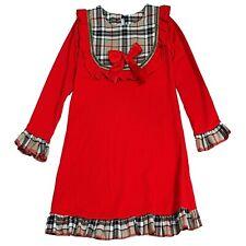 NEU Kinder Kleinkind Mädchen TARTAN Karo BOW Kleid Partei Plaid Prinzessin Tutu Kleider