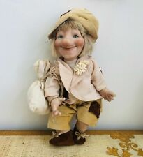 """New Authentic Italian Porcelain Doll """"Poldo """" Gnome.Made in Italy."""