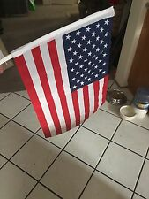 USA PROUD FLAG Lot of  2 US American car window flag Window Clip-FREE FAST SHIP
