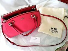 NEW COACH Pink Christie Carryall in Crossgrain Leather F57520 with Dust Bag!