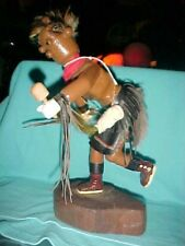 MUDHEAD Kachina Doll Navajo hand made 11'' in height JOINTED WAIST FOR MOVEMENT