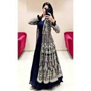READYMADE ANARKALI GOWN KOTI INDIAN WOMEN ETHNIC SALWAR KAMEEZ SUIT WEDDING EID