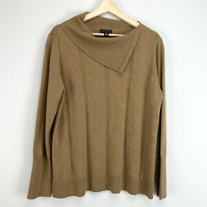 Carlisle Womens Camel Cashmere Knit Sweater Size XL