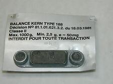 plaque PLAQUETTE plombé de BALANCE KERN 188 de PHARMACIEN WAAGE vintage ROBERVAL