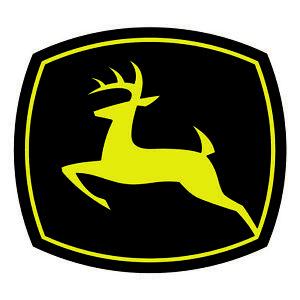 John Deere BLACK Logo Sticker - Car Truck Window Laptop vinyl Decal Tractor