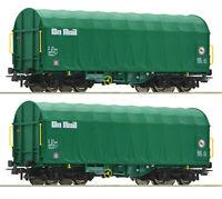 """Roco H0 76049 Schiebeplanenwagen-Set der On Rail """"Neuheit 2020"""" - NEU + OVP"""