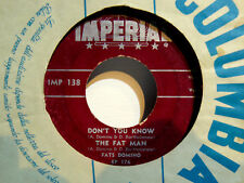 """FATS DOMINO THE FAT MAN + DOMINO STOMP +2 -  RARE EP  7"""" MADE IN  U.S.A. IMP 138"""