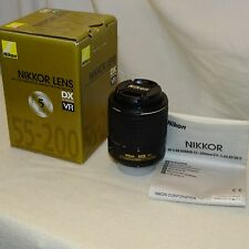Nikon NIKKOR 55-200mm f/4-5.6G ED DX VR II Lens in Mint Condition.