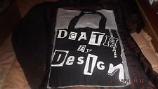 stylish black cotton tote bag, DEATH BY DESIGN, fashionable shopper, antifashion