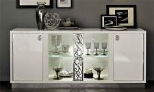 Anrichte 4-tr Roma Weiß Hochglanz Klassische Stilmöbel aus Italien