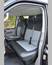 VW Transporter T5 9 Seater Minibus Seat Covers Black Grey Genuine Tight Fit