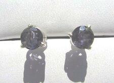 Iolith facett. Ohrstecker 7 mm 925 Silber E7068 Iolite earrings