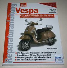 Reparaturanleitung Piaggio Vespa GTS + GTV 125 / 250 / 300 i.e., ab Baujahr 2005