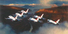 William Phillips THUNDER IN THE CANYON, F-16 Thunderbirds, giclee canvas #44/45
