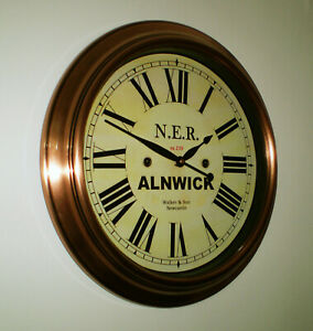 Outdoor Railway Clock Victorian Style Station Clock, Bespoke Dial Made to Order.