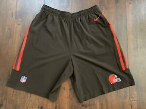 NIKE CLEVELAND BROWNS SPEED VENT DRIFIT ON-FIELD PRACTICE SHORTS
