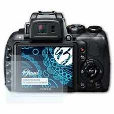 Bruni 2x Lámina Protectora para Fujifilm FinePix HS30EXR Película Protectora