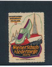 Vignetten-Reklammemarken Wiener Schuh und Ledermesse 1914  (V2)