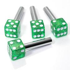 4 Green Glitter Dice Interior Door Lock Knobs Pins for Car-Truck-HotRod-Classic