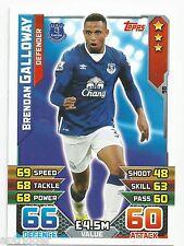 2015 / 2016 EPL Match Attax Base Card (98) Brendan GALLOWAY Everton