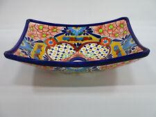 "16½"" RECTANGULAR TALAVERA SINK vessel mexican bathroom handmade ceramic folk art"