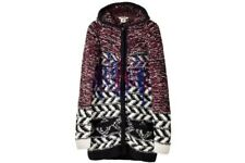 2013 ISABEL MARANT pour H&M Fringe Woven Zip Cardigan Hooded Sweater Jacket - S