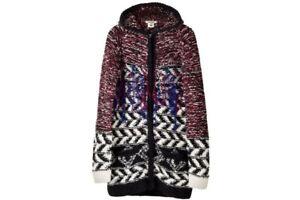 2013 ISABEL MARANT x H&M Fringe Woven Zip Cardigan Hooded Sweater Jacket - M