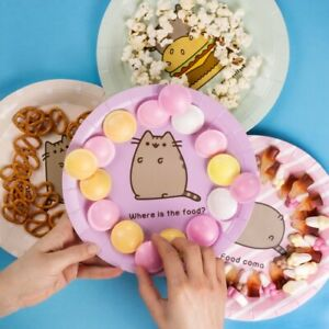 PACK OF 8 PUSHEEN PARTY PLATES *FAST UK DISPATCH*
