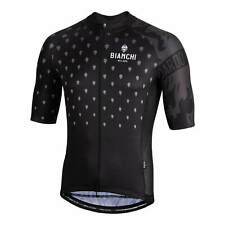 NEW Bianchi Milano Savignano Short Sleeve Jersey RRP£99.99 MEDIUM Black