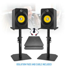 "XP50 Active Powered Studio Monitor Speakers 5.25"" Multimedia DJ (Pair) & Stands"