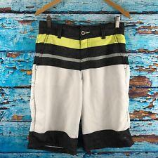 Tony Hawk Hybrid Board Shorts Mens Size 30 Black Yellow White Surf swim trunks