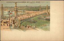 1900 Paris Expo Universelle Le Pont Alexandre III Postcard