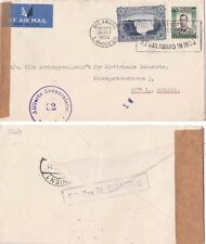 Rhodesia 1952 Air mail from Bulawayo to Austra censored Allies there.