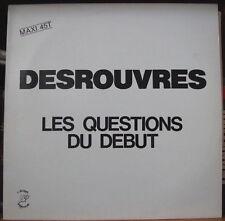 """DENIS DESROUVRES LES QUESTIONS DU DEBUT 12"""" MAXI 45t  FRENCH  LP"""