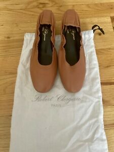Robert Clergerie Paris 6.5/36.5 Soft Blush Leather Heels Made in France