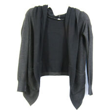 Lululemon Size M Hooded Cardigan Charcoal Gray Open Front Pockets