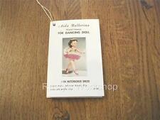 1950's VALENTINE doll AIDA BALLERINA Booklet Hang TAG (Reproduction)