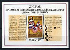 NA NVPH 715 Blok 200 jaar Betrekkingen 1982 Postfris