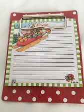 New Mary Engelbreit Notepad On Clipboard, 50 Sheets, Rabbits On Sled In Snow