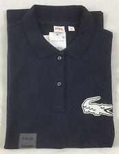 Lacoste Live Women's Strectch Polo Shirt Navy Blue/Flour Size M