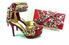 Animal Print Special Occasion Satin Heels for Women